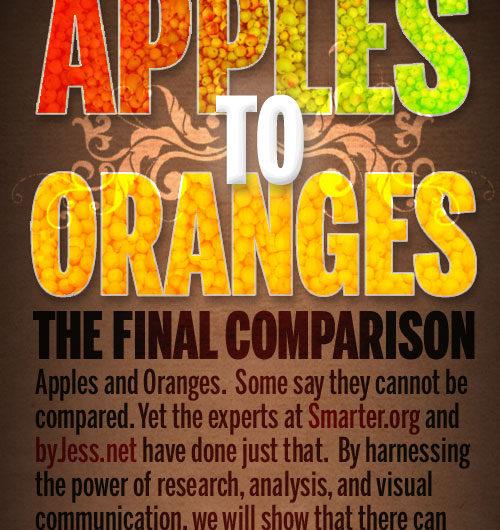 Apples to Oranges: The Final Comparison