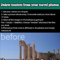 Tips: Delete Tourists from your Travel Photos