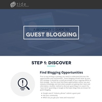 Beginner's Guide To Guest Blogging (Infographic)