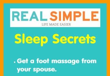 Real Simple: Sleep Secrets (Infographic)