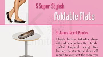 5 Super Stylish Foldable Flats