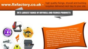 Fixfactory Offers High Quality Fixings, Drywall and Building Supplies
