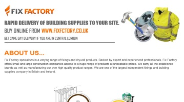 Fixings and Building Supplies from Fix Factory