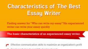 Unique Characteristics of an Essay Writer