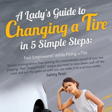 A Lady's Guide to Changing a Tire in 5 Simple Steps
