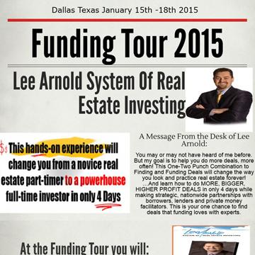 Lee Arnold 2015 Funding Tour