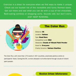 Fun and Wacky Races Infographic