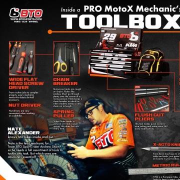 Look Inside a Pro Motocross Mechanic's Tool Kit!