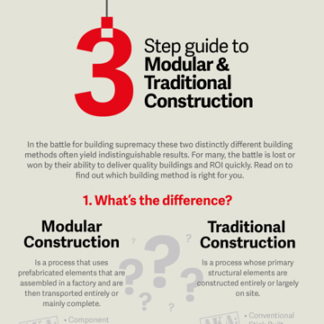 3 Step Build to Modular & Traditional Construction