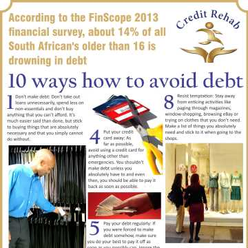 Infographic – 10 Ways How To Avoid Debt