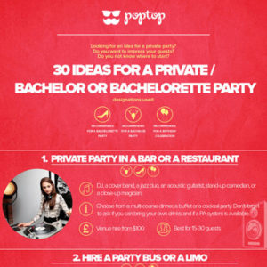 30 Ideas for a Private Party