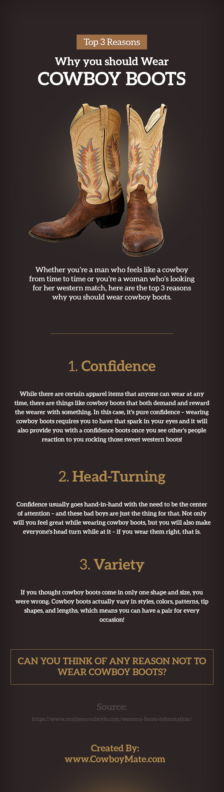 Top 3 Reasons Why you should Wear Cowboy Boots