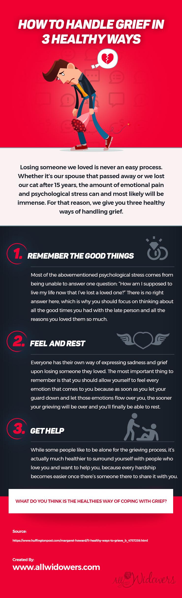 How to Handle Grief in 3 Healthy Ways