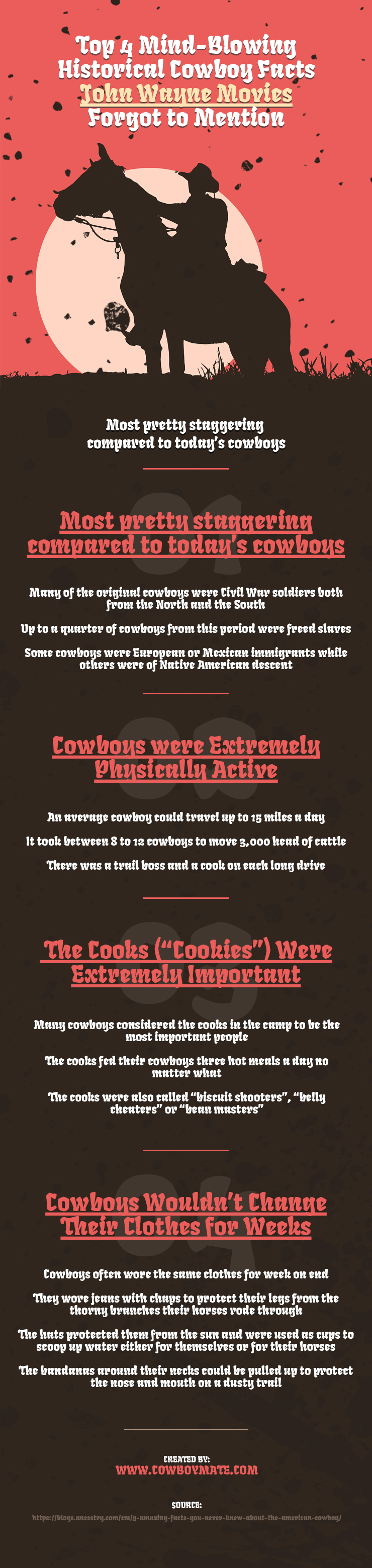 Top 4 Mind Blowing Historical Cowboy Facts John Wayne Movies Forgot to Mention