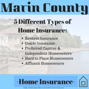 5 Types of Home Insurance in Marin County