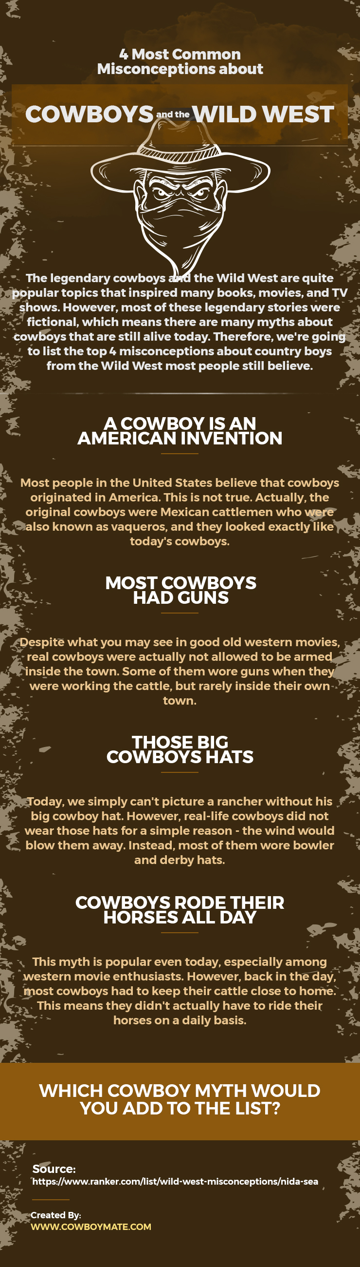 4 Most Common Misconceptions about Cowboys and the Wild West
