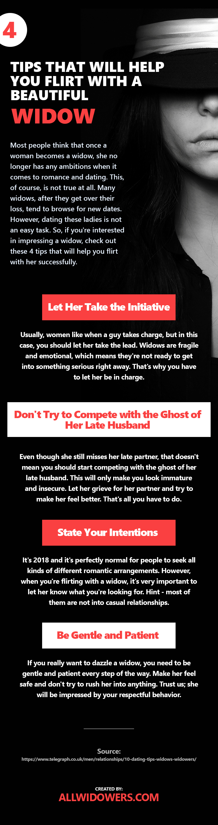 4 Tips That Will Help You Flirt with a Beautiful Widow