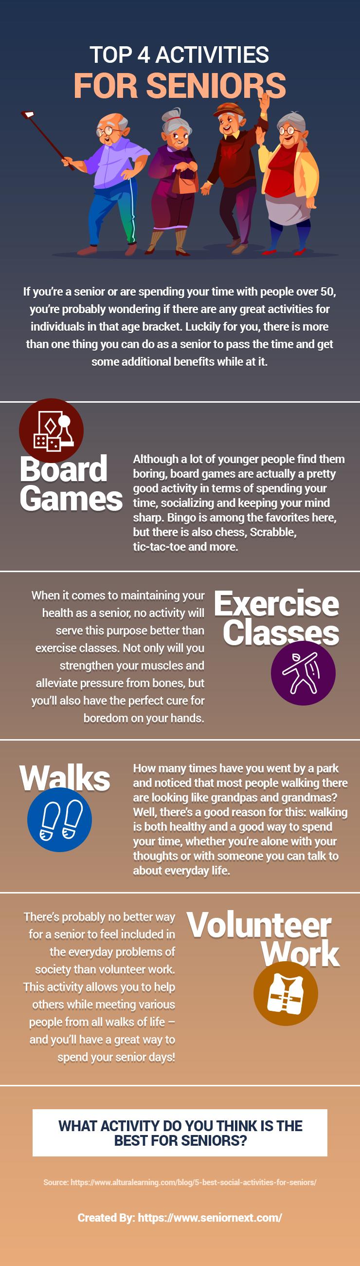 Top 4 Activities for Seniors