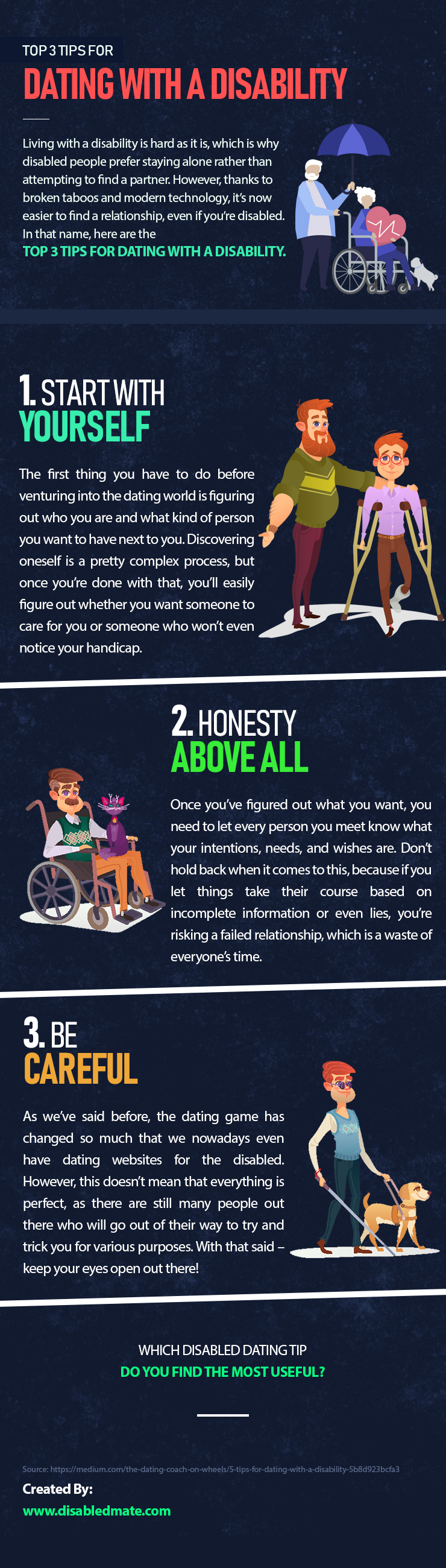 Top 3 Tips for Dating with a Disability