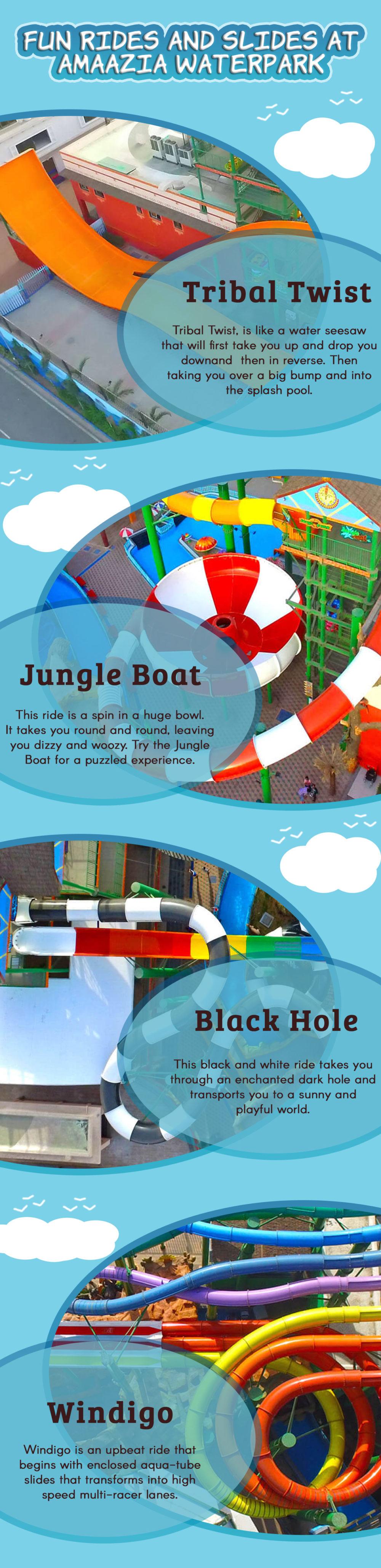 Fun Rides And Slides at Amaazia Water Park