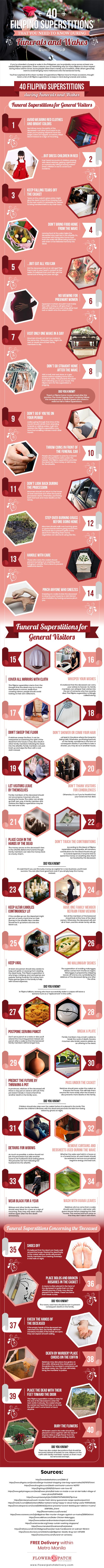 40 Filipino Superstitions that You Need to Know during Funerals and Wakes Infographics