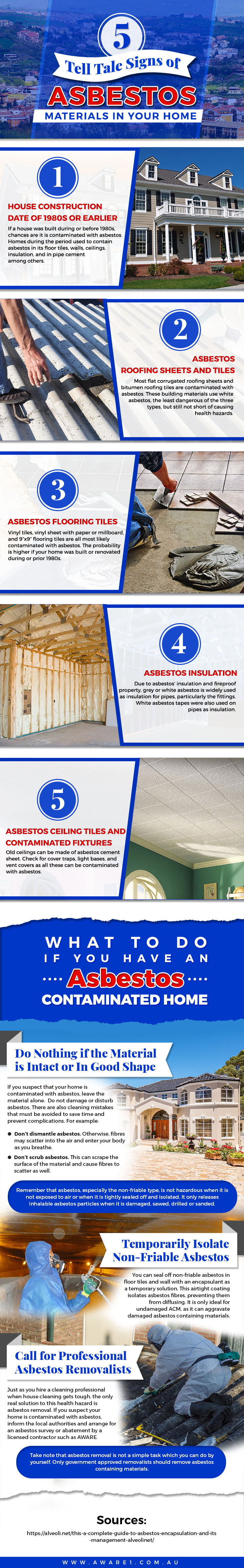 5 Tell Tale Signs of Asbestos Materials in Your Home
