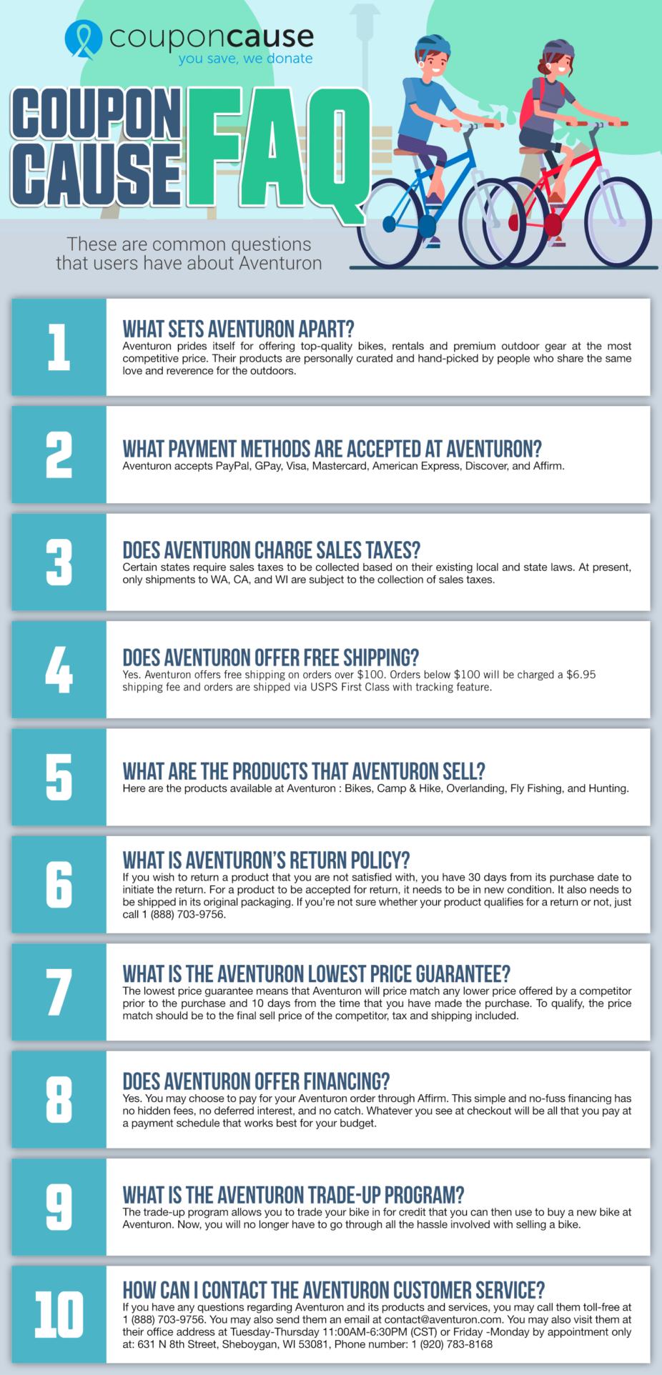Aventuron Coupon Cause FAQ (C.C. FAQ)