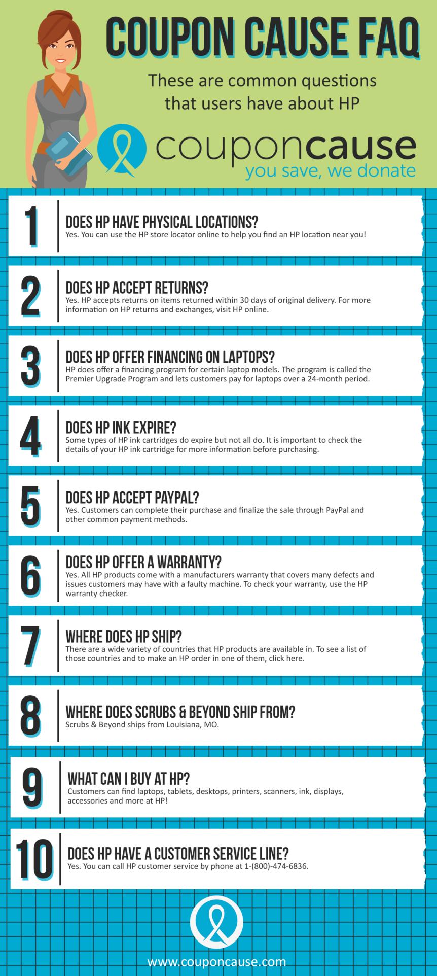 HP Coupon Cause FAQ (C.C. FAQ)