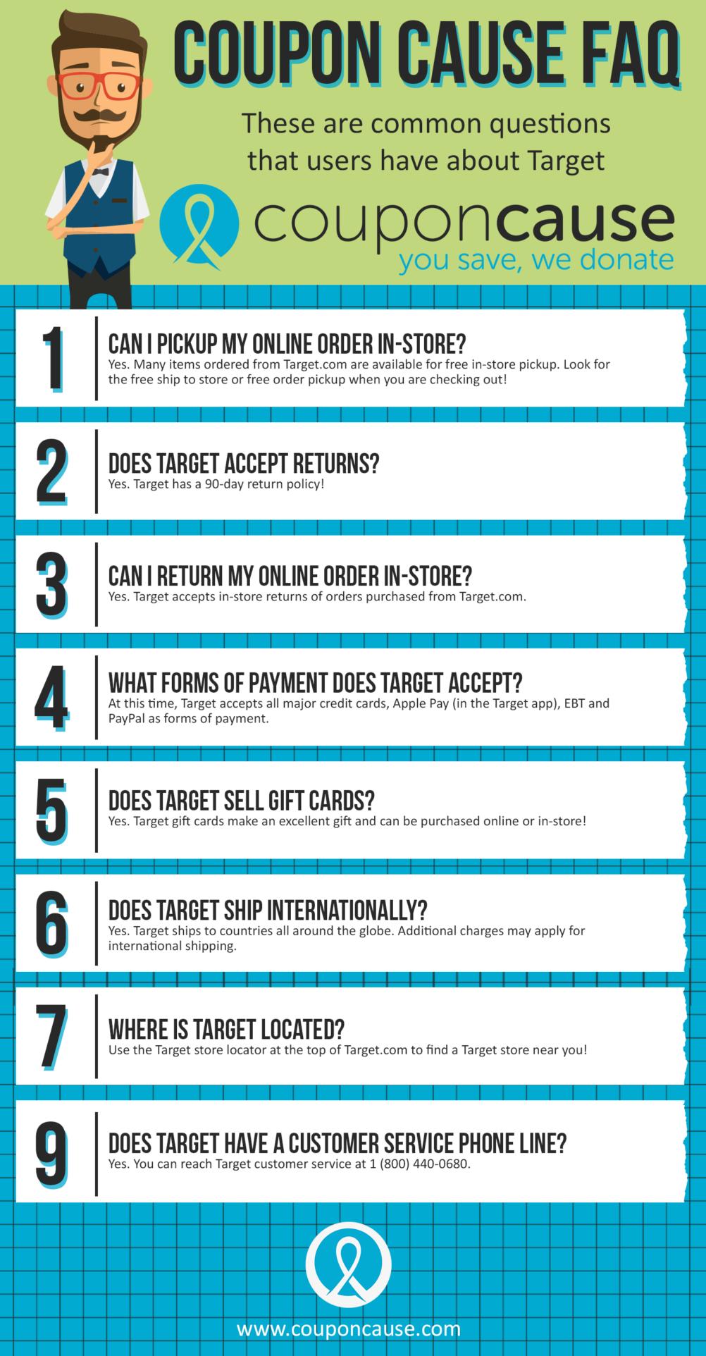 Target Coupon Cause FAQ (C.C. FAQ)