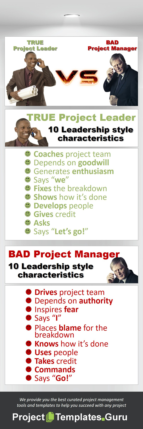 True Project Leader or Bad Project Manager?