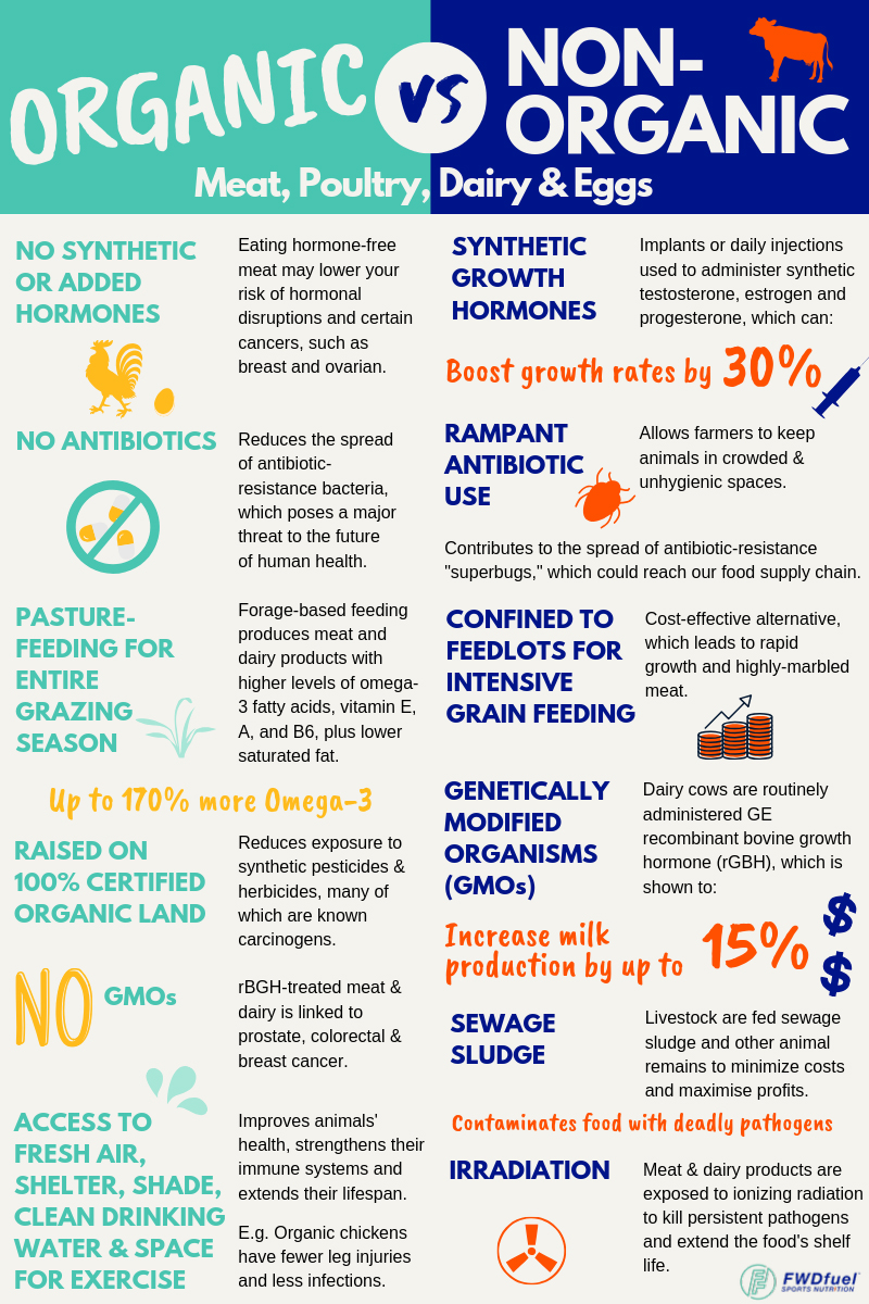 Organic vs Non Organic Meat, Poultry, Dairy, and Egg Farming