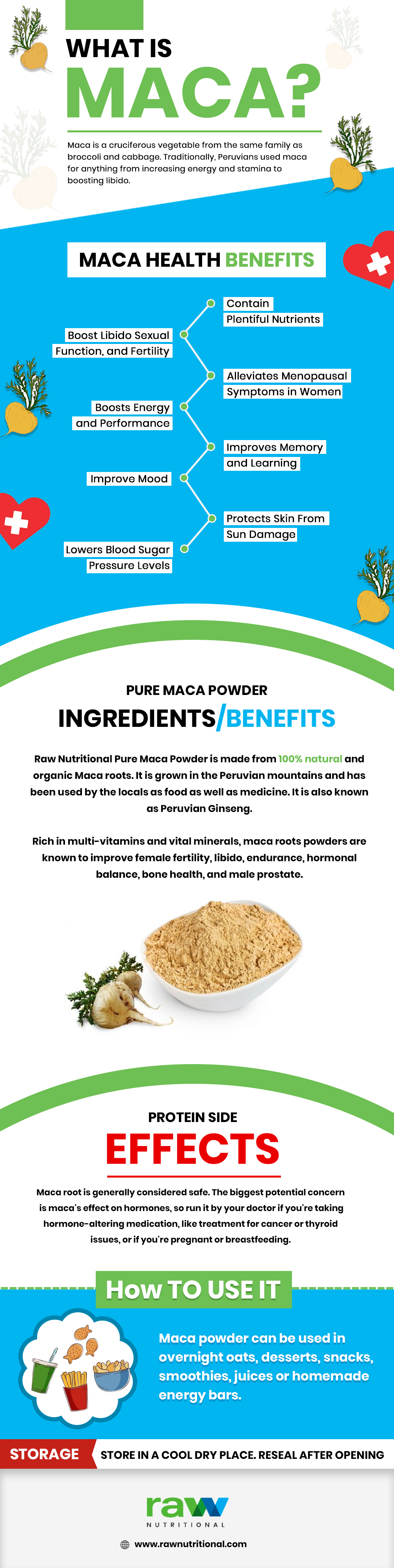 Maca Root Powder Benefits and Side-Effect