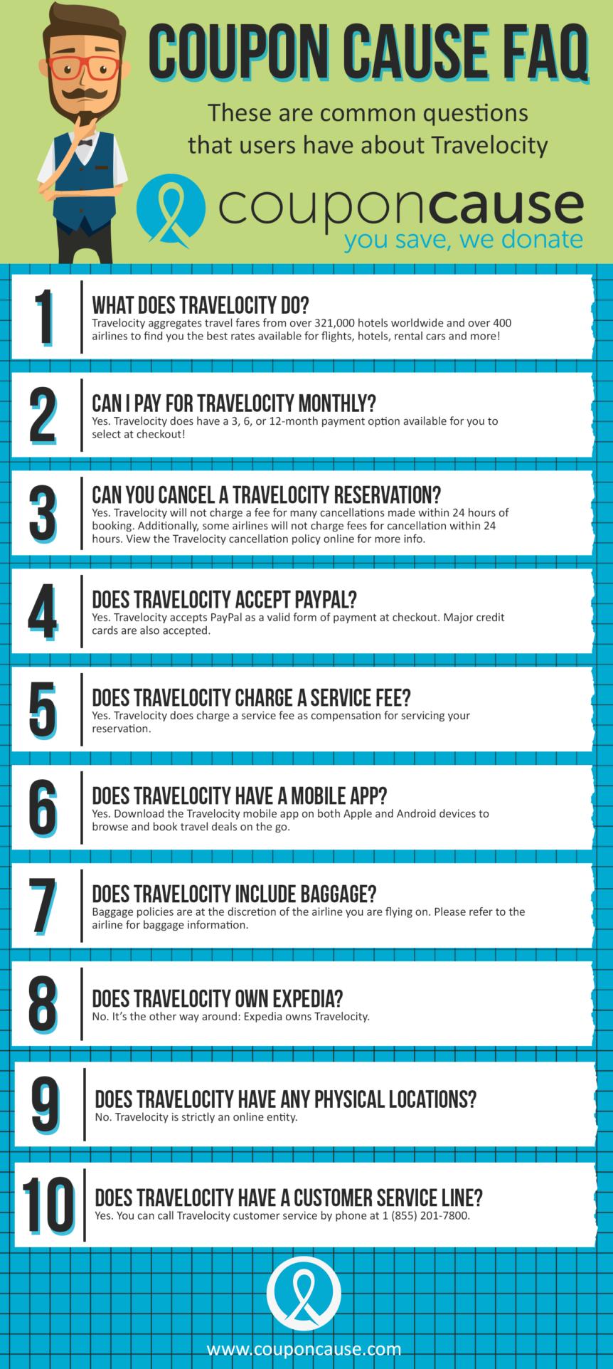 Travelocity Coupon Cause FAQ (C.C. FAQ)