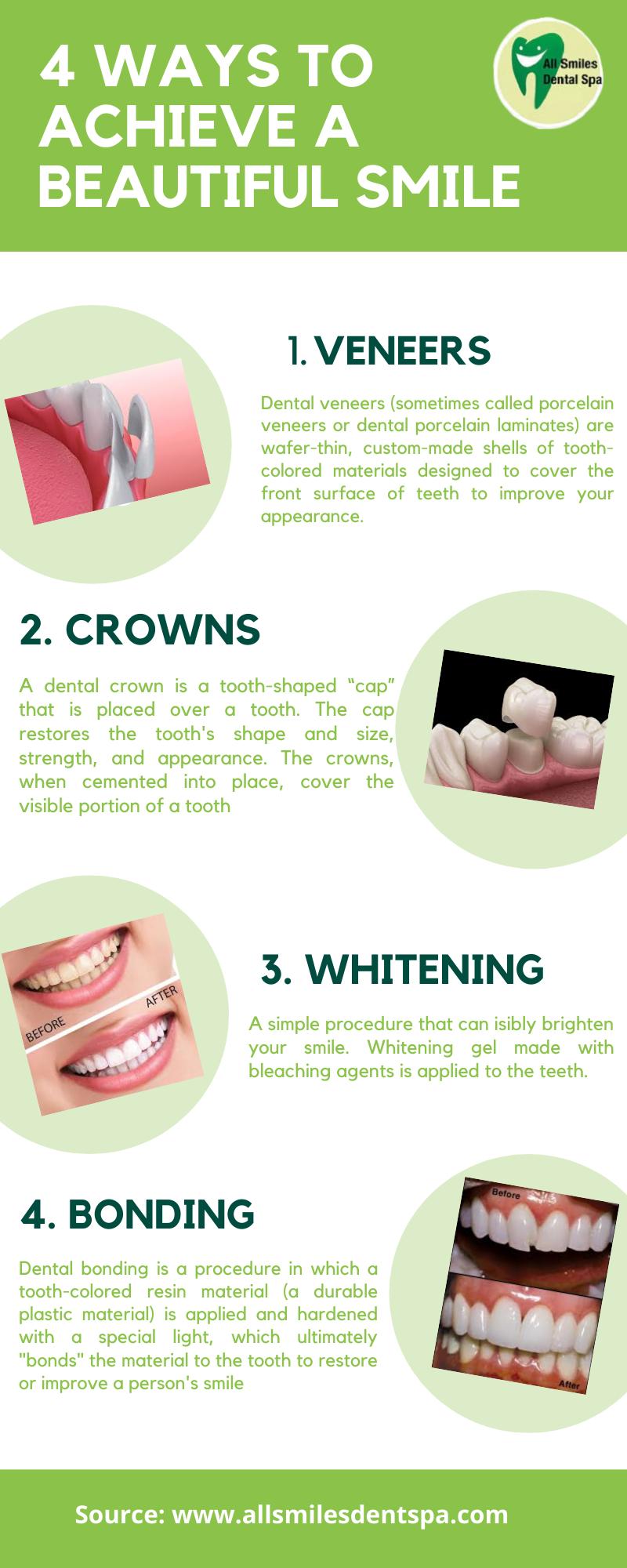 4 Ways to Achieve a Beautiful Smile | All Smiles Dental Spa Dubai