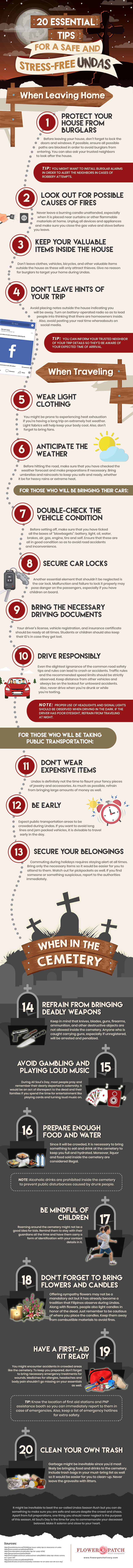 20 Essential Tips for a Safe and Stress-free Undas Infographic