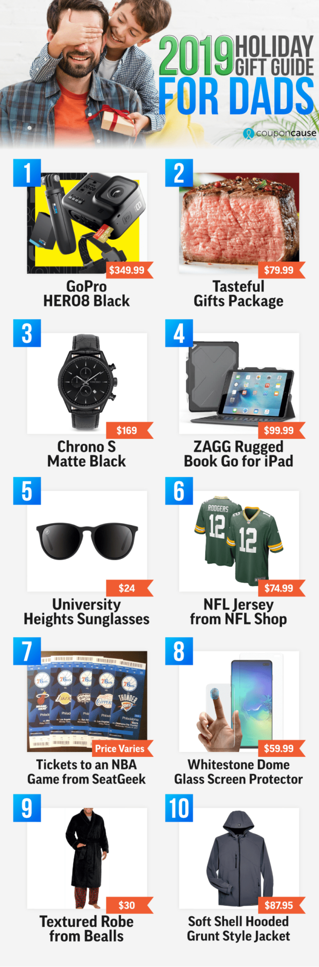 CouponCause Holiday Gift Guide for Dads 2019
