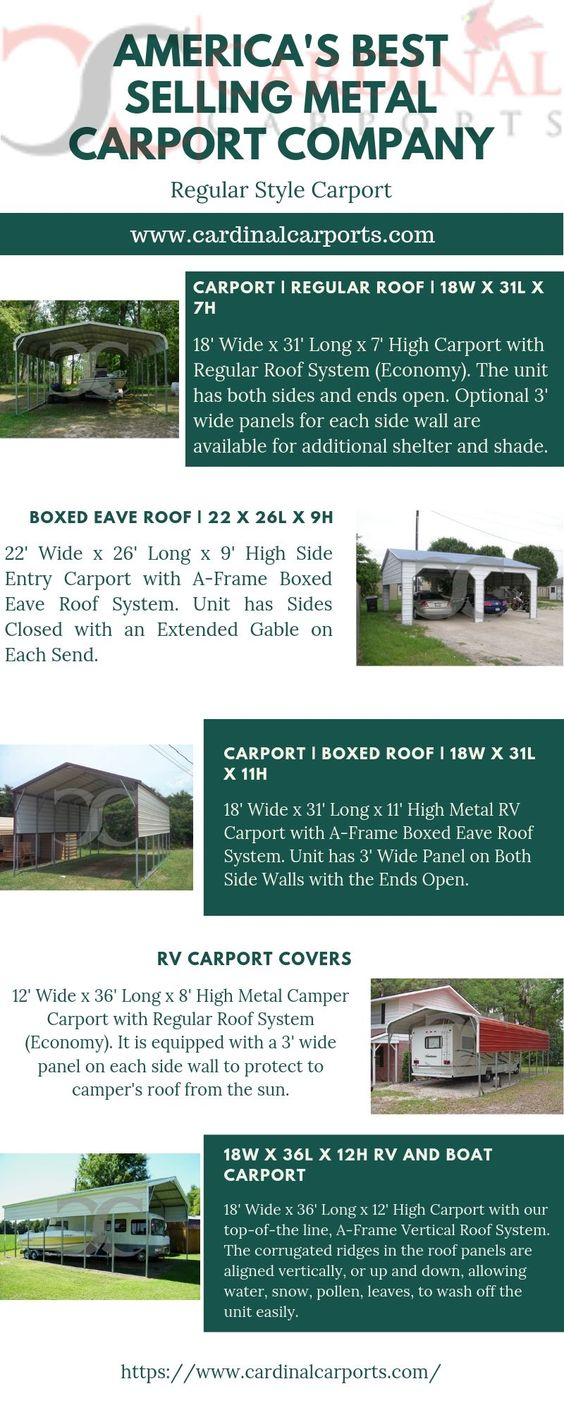 Regular Style Metal Carports for Sale