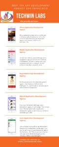 Best iOS App development agency San Francisco, California and Washington