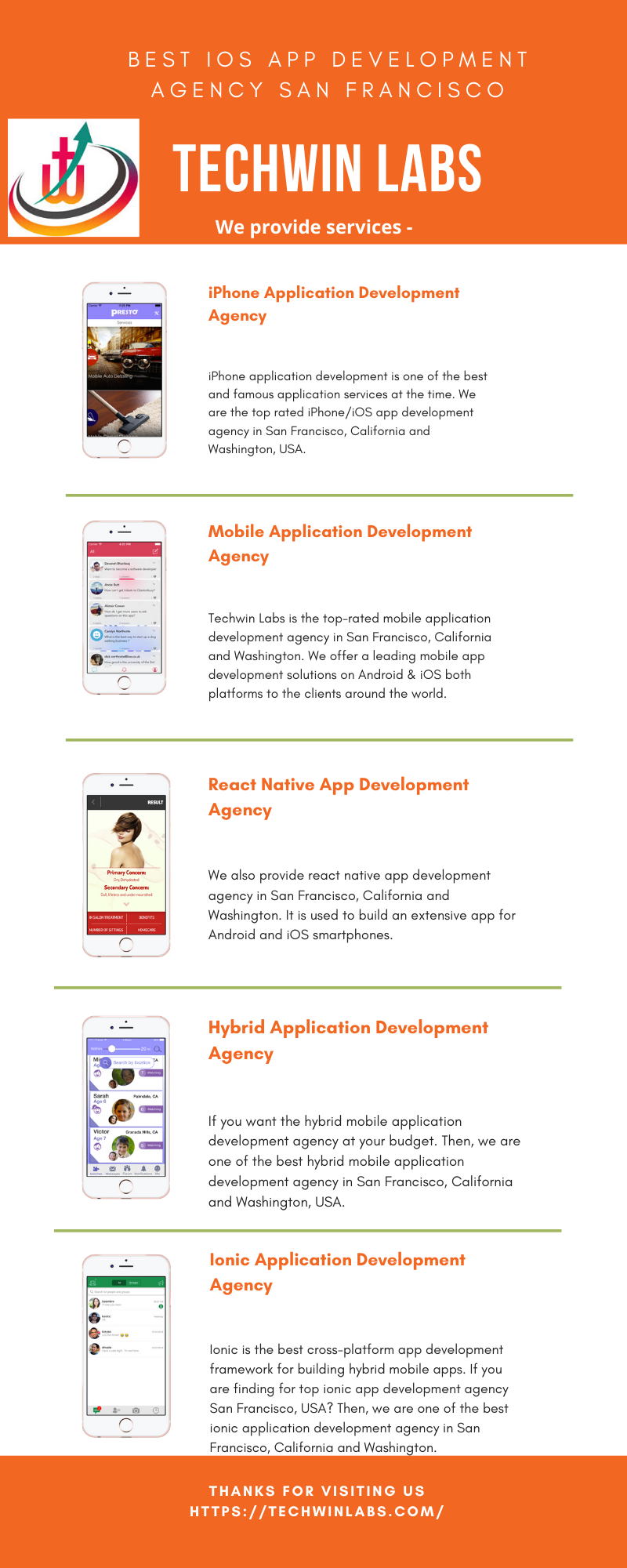 Best iOS App Development Agency San Francisco, California & Washington | Techwin Labs