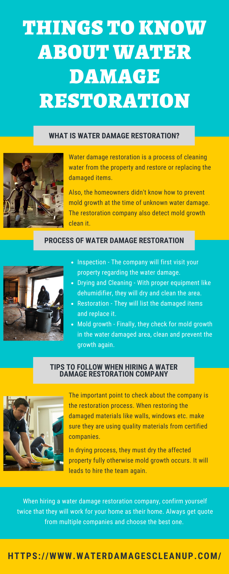 Things to Know About Water Damage Restoration