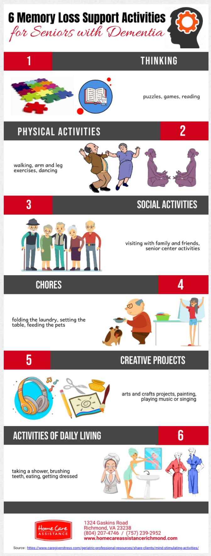 Memory Loss Support Activities for Seniors with Dementia