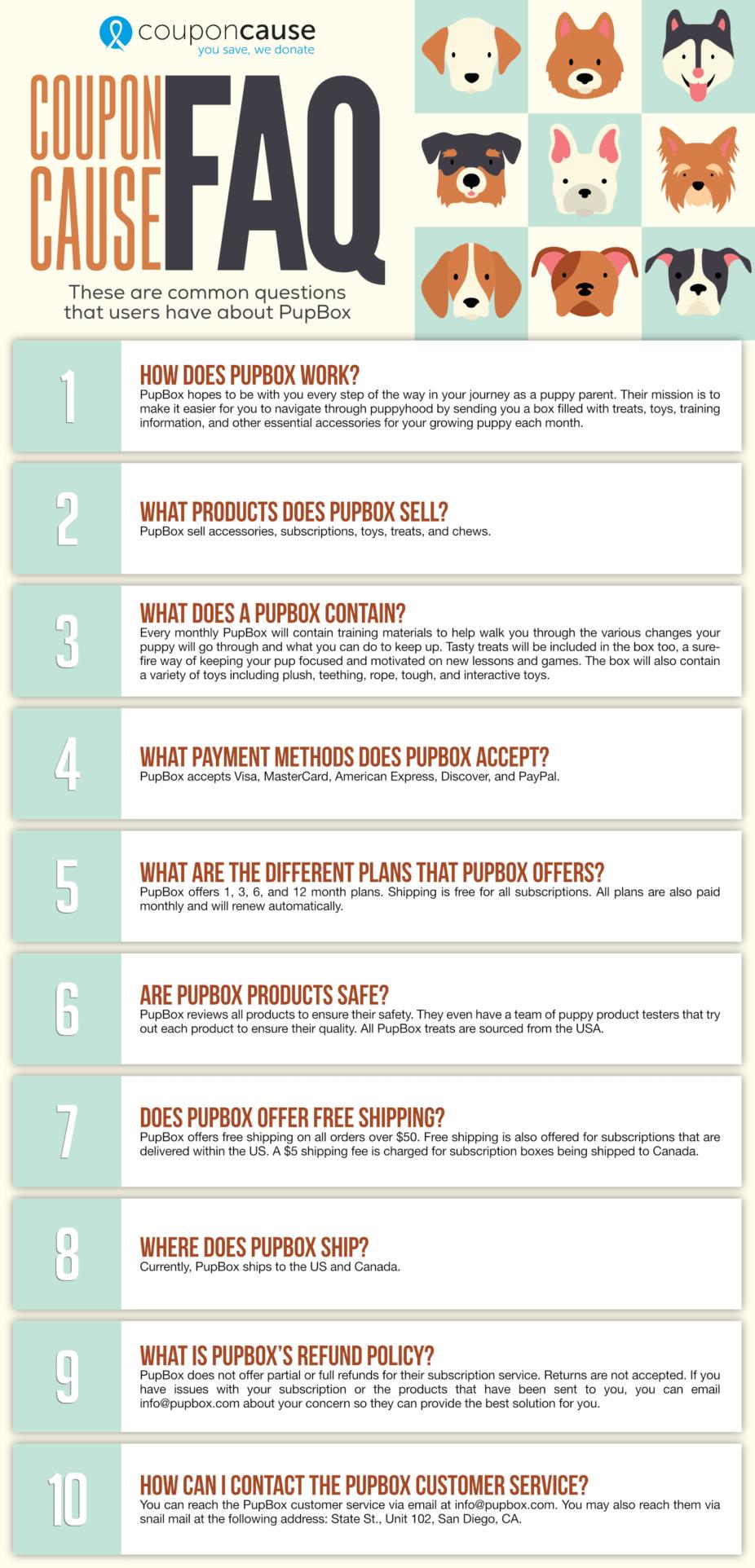 PupBox Coupon Cause FAQ (C.C. FAQ)
