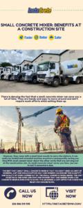 Small Concrete Mixer_ Benefits At A Construction Site