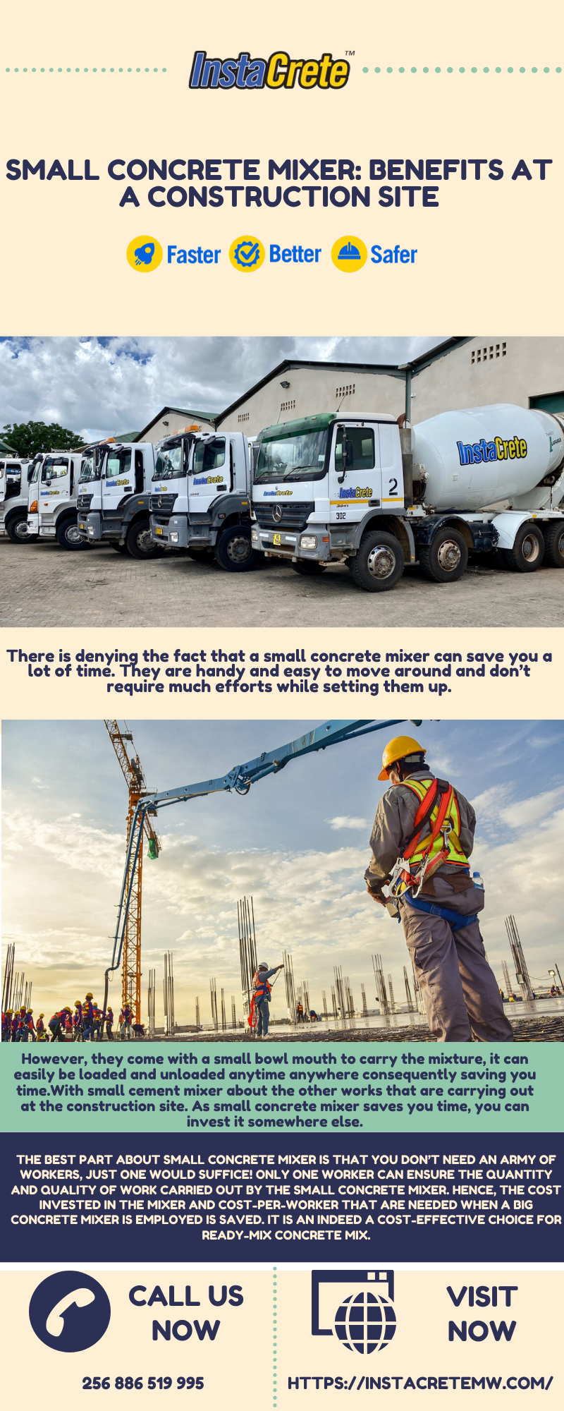 Small Concrete Mixer: Benefits At A Construction Site