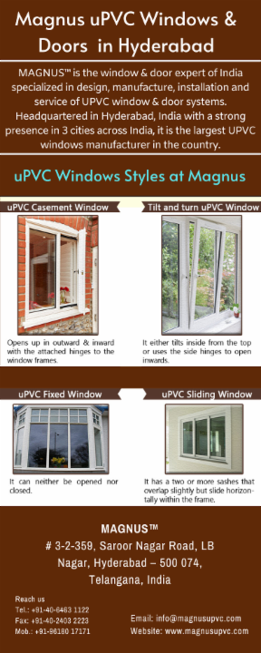 The Best uPVC Windows and Doors Manufacturers in Hyderabad
