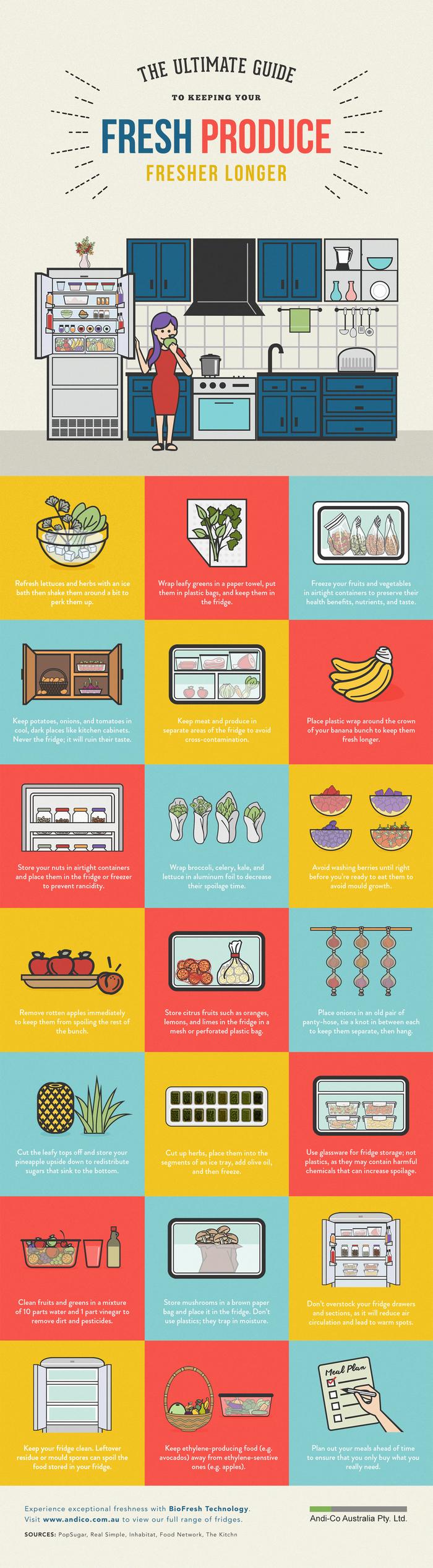 storing fresh produce infographic